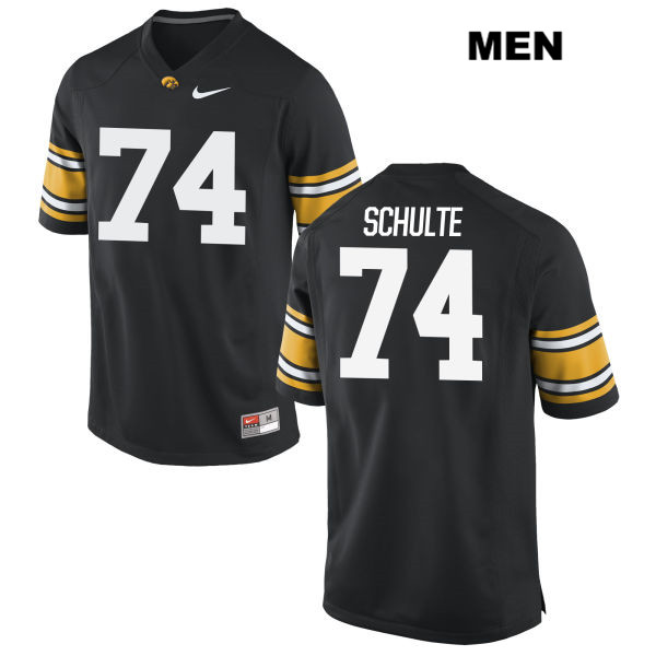 Authentic Iowa Hawkeyes Nike no. 74 Stitched Austin Schulte Black Mens College Football Jersey - Austin Schulte Jersey
