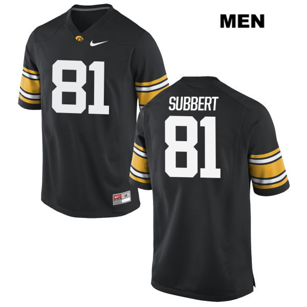 Authentic Nike Iowa Hawkeyes no. 81 Ben Subbert Stitched Black Mens College Football Jersey - Ben Subbert Jersey