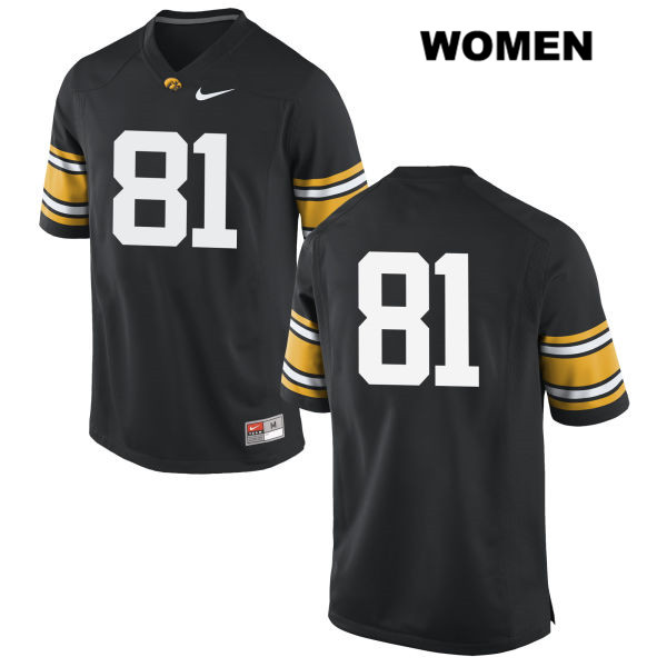 Nike Authentic Iowa Hawkeyes Stitched no. 81 Ben Subbert Black Womens College Football Jersey - No Name - Ben Subbert Jersey