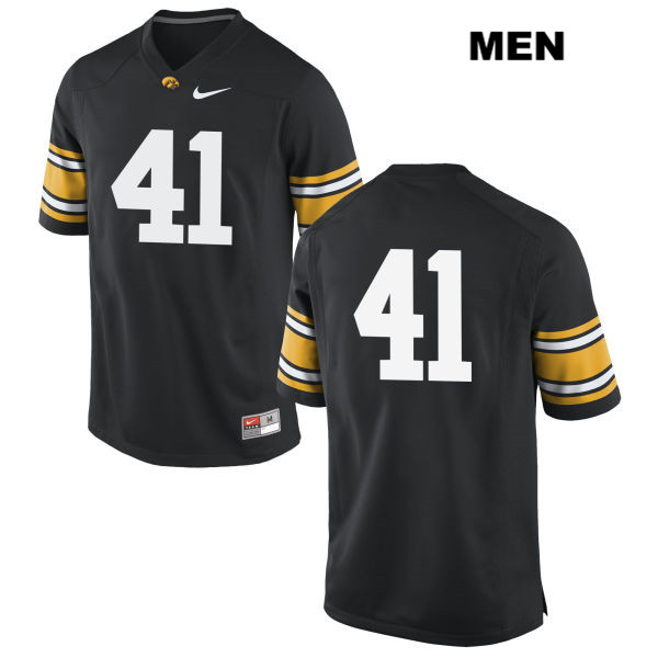 Authentic Iowa Hawkeyes no. 41 Stitched Bo Bower Nike Black Mens College Football Jersey - No Name - Bo Bower Jersey