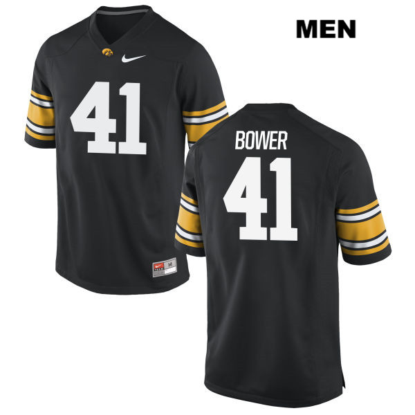 Authentic Nike Iowa Hawkeyes no. 41 Bo Bower Stitched Black Mens College Football Jersey - Bo Bower Jersey