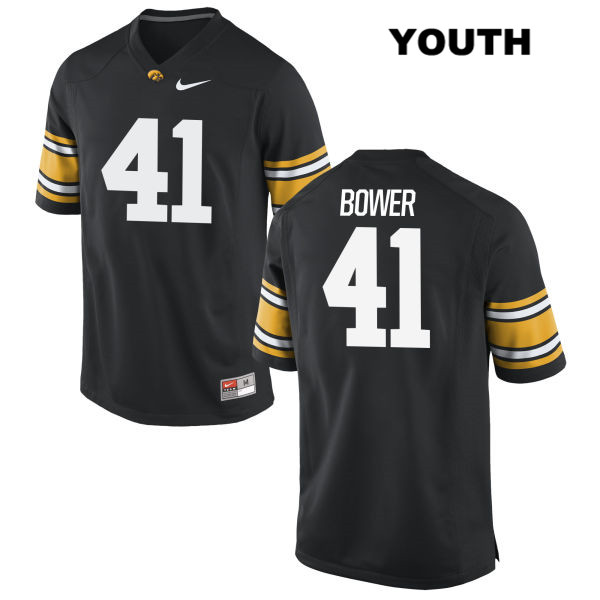 Authentic Iowa Hawkeyes no. 41 Stitched Bo Bower Nike Black Youth College Football Jersey - Bo Bower Jersey