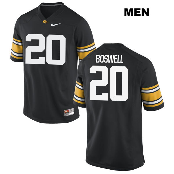 Authentic Nike Iowa Hawkeyes no. 20 Cedric Boswell Black Stitched Mens College Football Jersey - Cedric Boswell Jersey