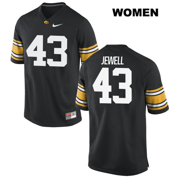 Authentic Iowa Hawkeyes Nike no. 43 Josey Jewell Stitched Black Womens College Football Jersey