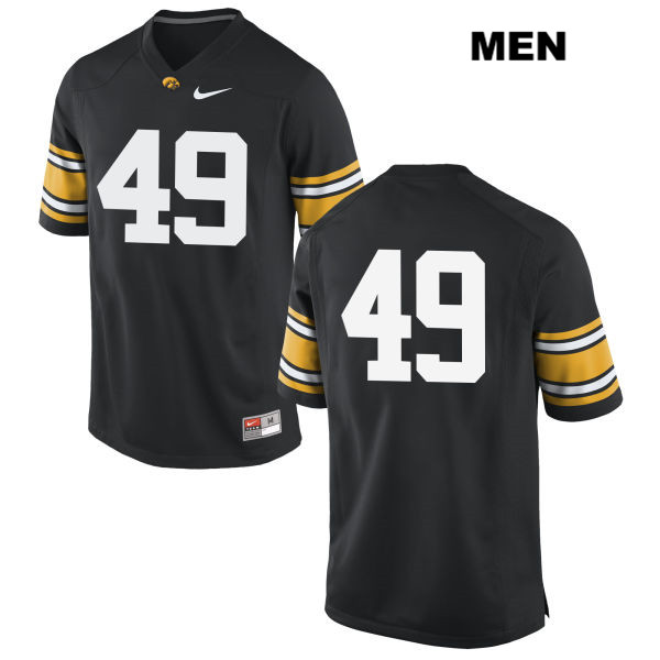 Nike Authentic Iowa Hawkeyes no. 49 Nick Niemann Stitched Black Mens College Football Jersey - No Name - Nick Niemann Jersey